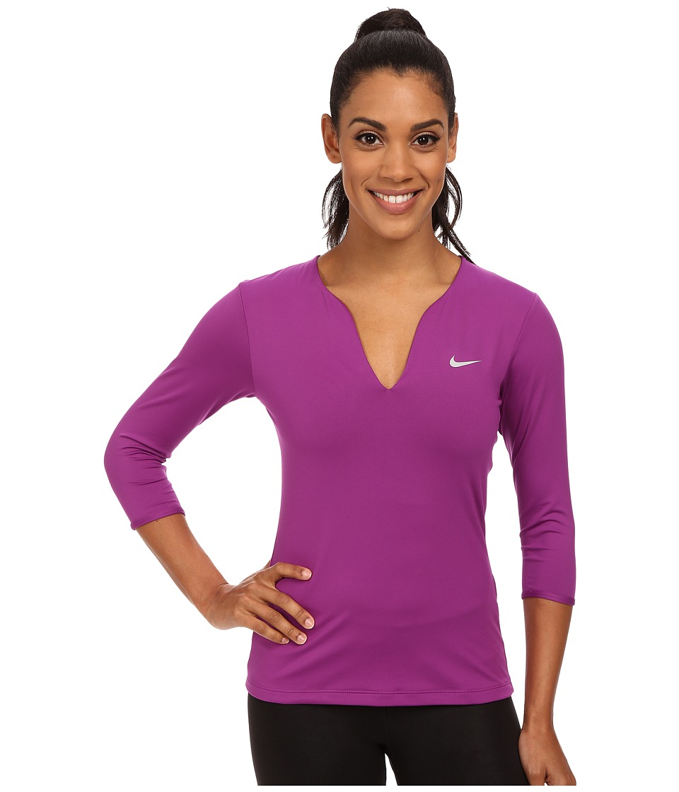 Nike - Pure Long Sleeve Top (Purple Dusk/Matte Silver) Women's Long Sleeve Pullover