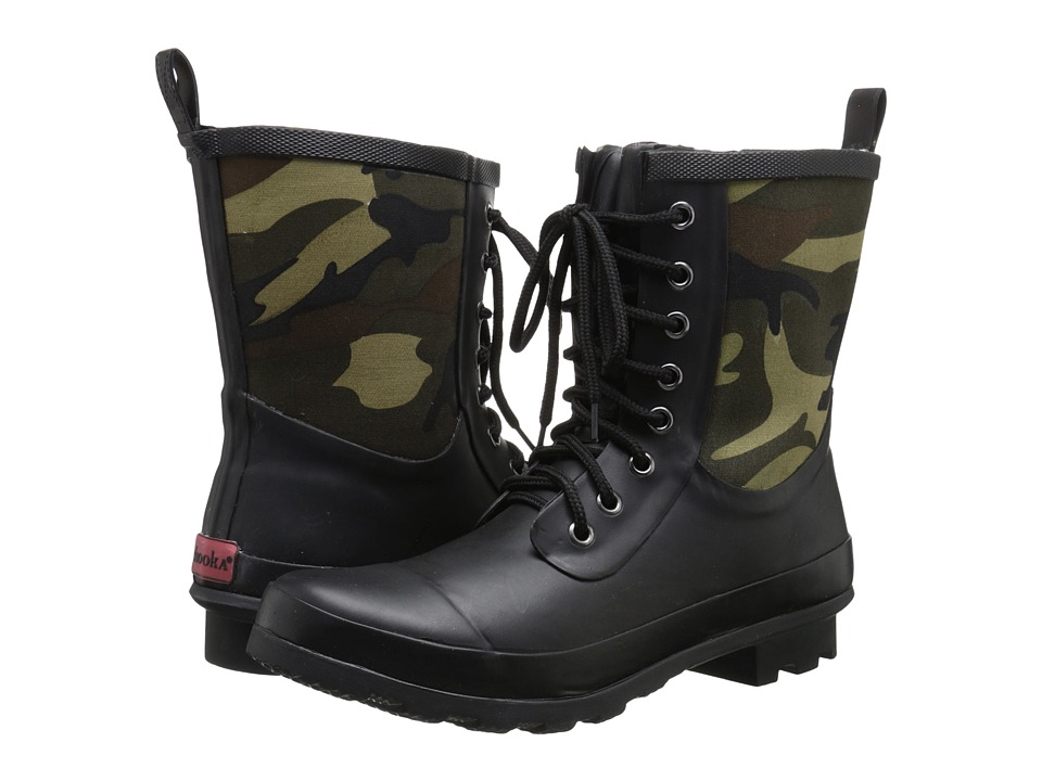 Chooka Cara Camo Rain Boot (Green) Women