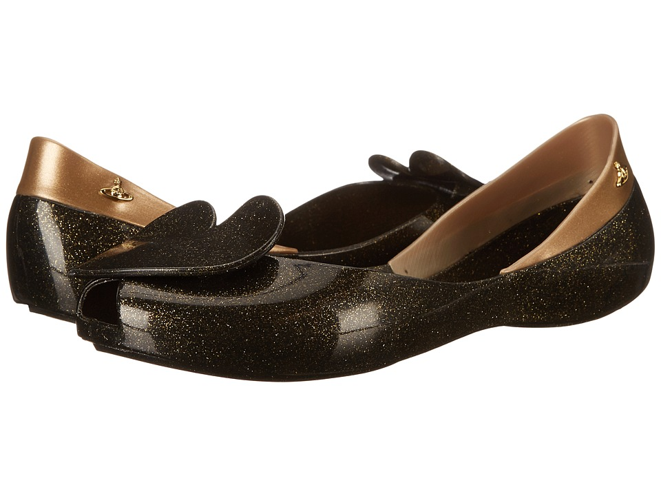 Vivienne Westwood - Anglomania + Melissa New Queen (Black Glitter) Women