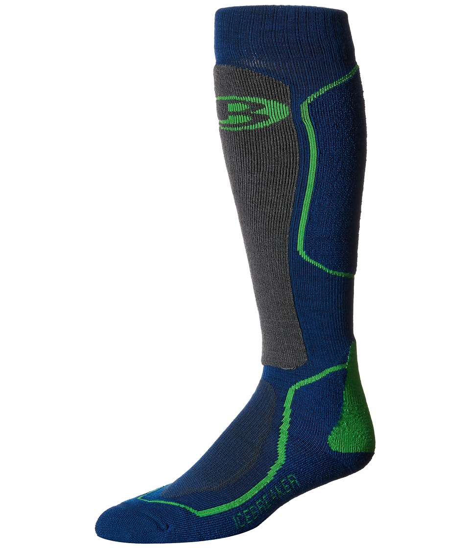 Icebreaker - Ski + Medium OTC 1-Pair Pack (Largo/Monsoon/Turf) Men's Crew Cut Socks Shoes