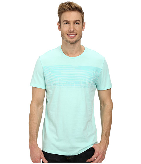 Calvin Klein - Linear Grid Tee (Yucca) Men's T Shirt