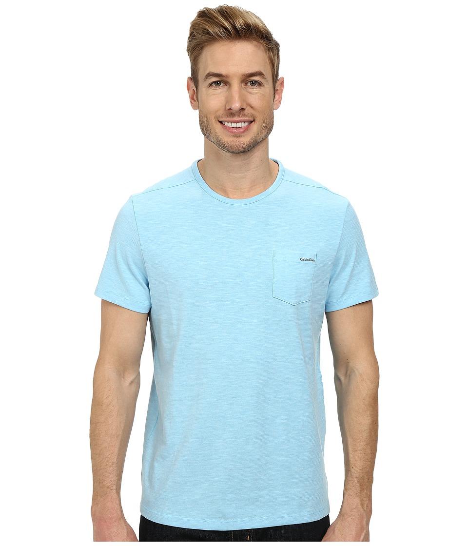 Calvin Klein - Jersey Dressy Tee (Norse Blue) Men's T Shirt