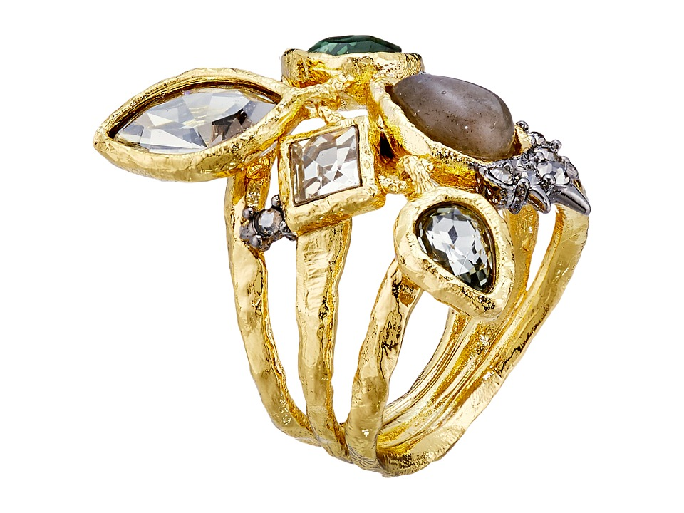 Alexis Bittar - Confetti Charm Cocktail Ring (Gold/Ruthenium) Ring