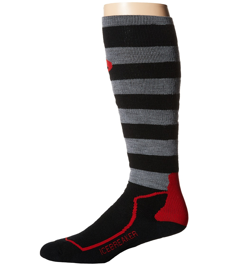 Icebreaker - SB + Medium OTC 1-Pair Pack (Black/Twister Heather/Rocket) Men's Crew Cut Socks Shoes