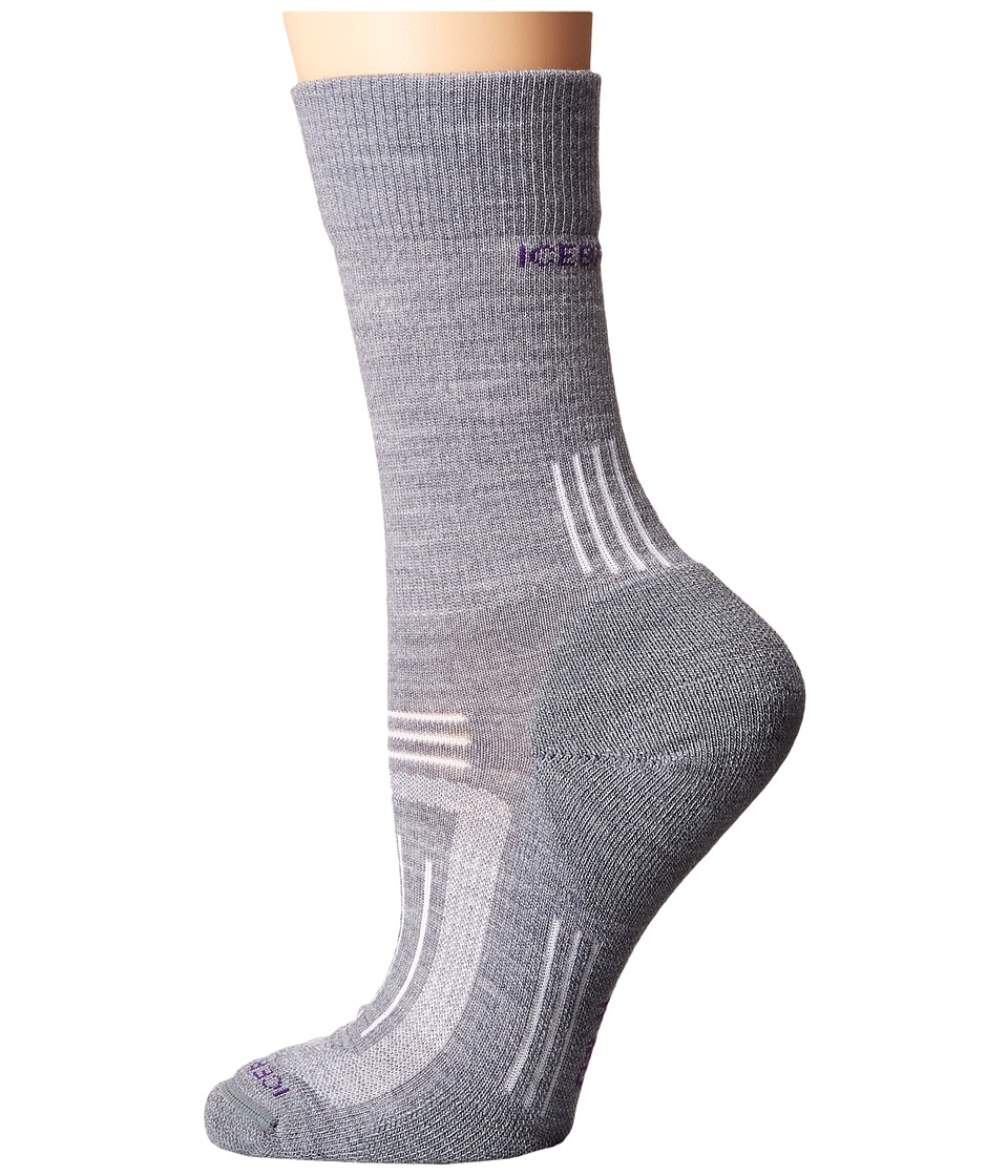 Icebreaker - Hike + Light Crew 1-Pair Pack (Twister Heather) Women's Crew Cut Socks Shoes