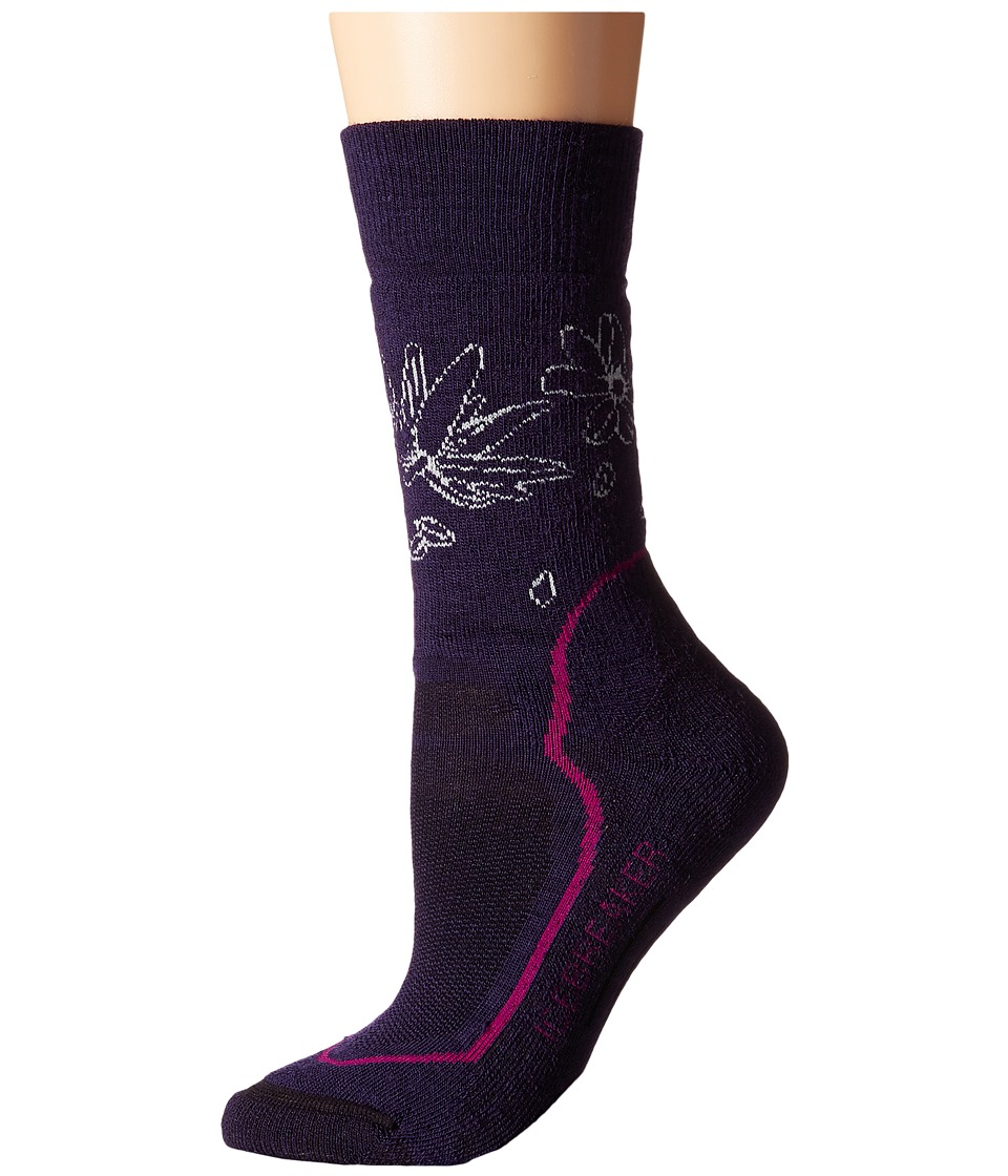 Icebreaker - Hike + Medium Crew 1-Pair Pack (Lotus/Magenta/Cognac) Women's Crew Cut Socks Shoes