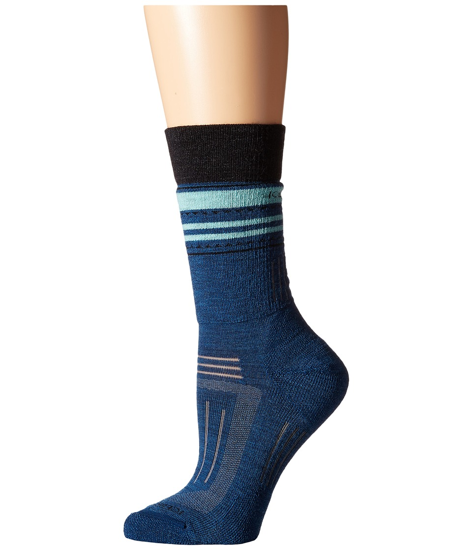 Icebreaker - Hike + Medium Crew 1-Pair Pack (Equinox Heather/Jet Heather/Teardrop) Women's Crew Cut Socks Shoes