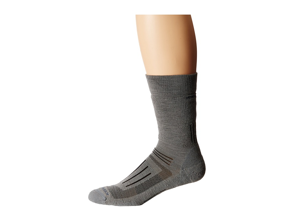 Icebreaker - Hike + Medium Crew 1-Pair Pack (Fossil) Men's Crew Cut Socks Shoes