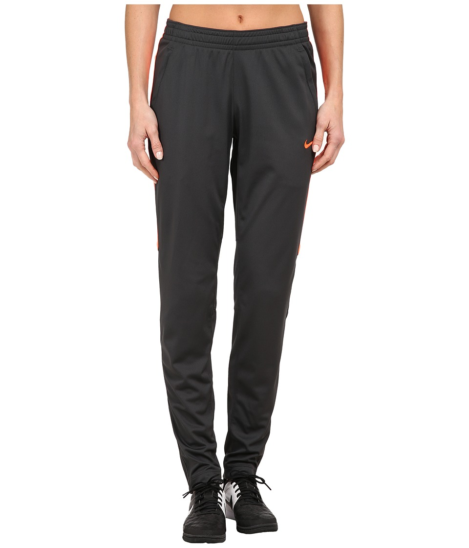 Nike - Academy Knit Soccer Pant (Anthracite/Hyper Orange/Hyper Orange) Women's Casual Pants
