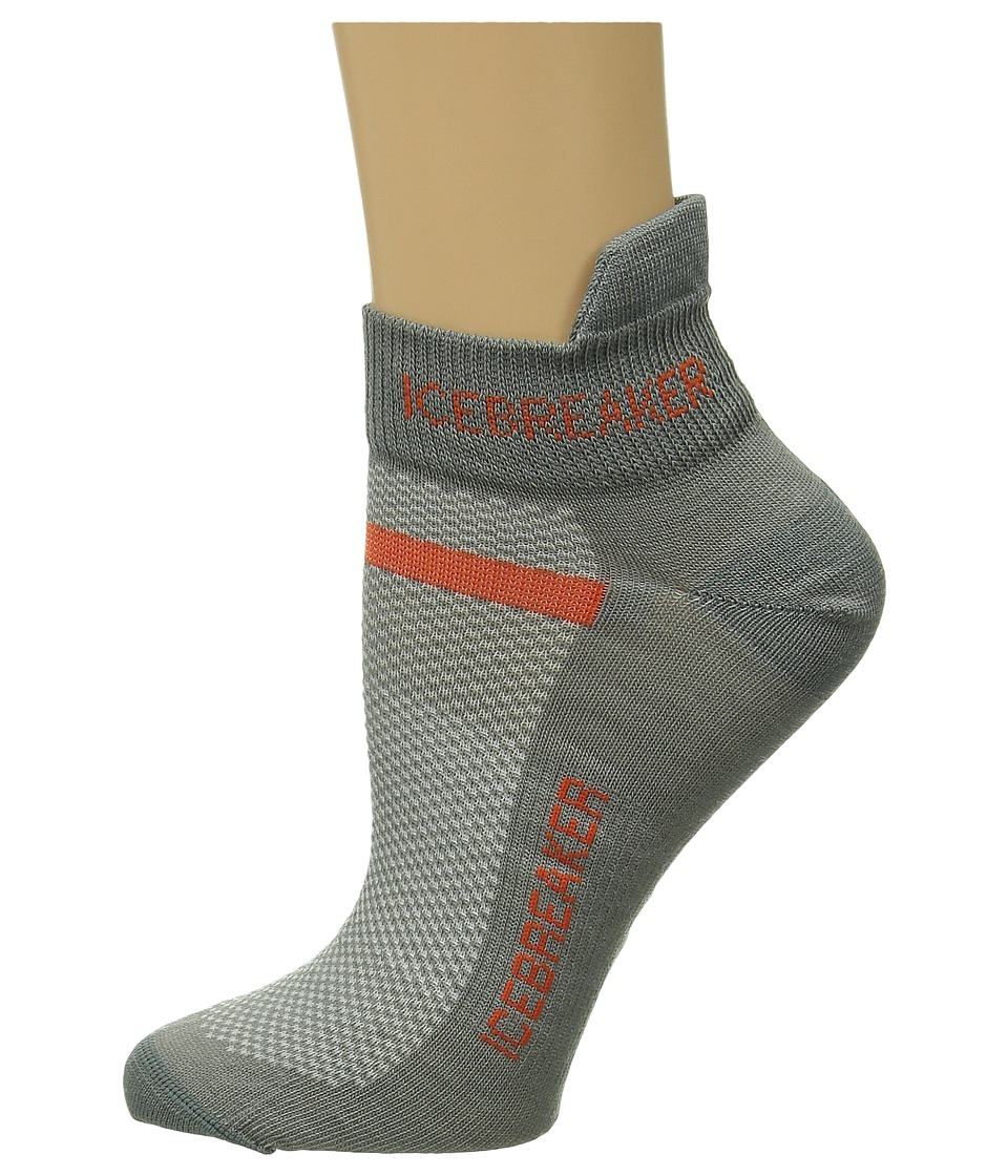 Icebreaker - Multisport Ultra Light Micro 1-Pair Pack (Fossil/Heat) Men's No Show Socks Shoes