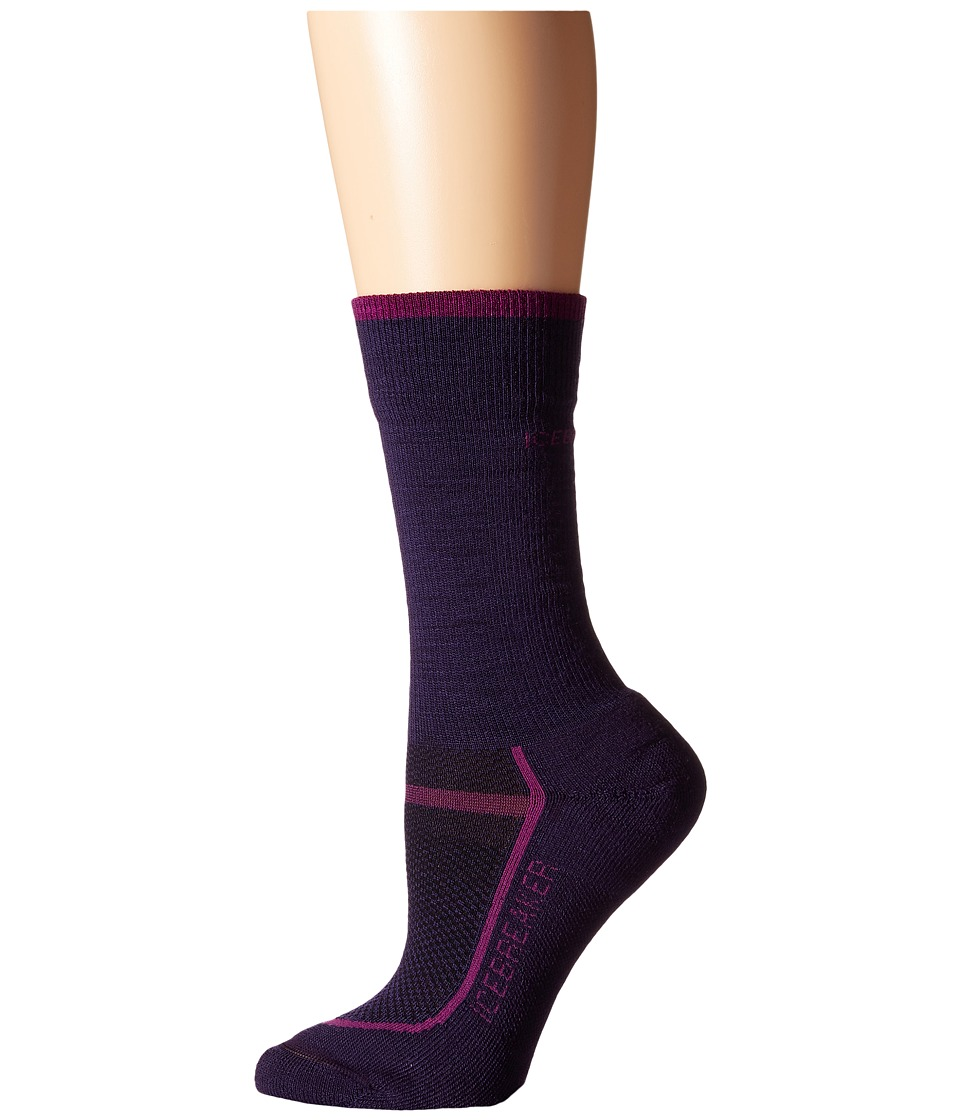 Icebreaker - Multisport Light Crew 1-Pair Pack (Lotus/Vivid) Women's Crew Cut Socks Shoes
