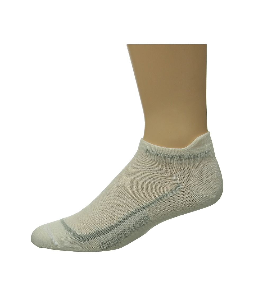 Icebreaker - Run + Ultra Light Micro 1-Pair Pack (White/Silver/White) Men's No Show Socks Shoes