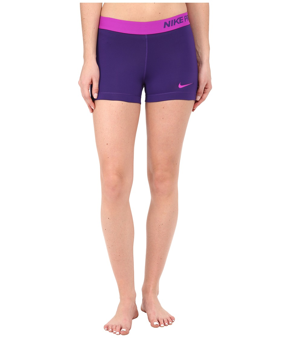 Nike - Pro Three-Inch Short (Court Purple/Vivid Purple) Women's Shorts