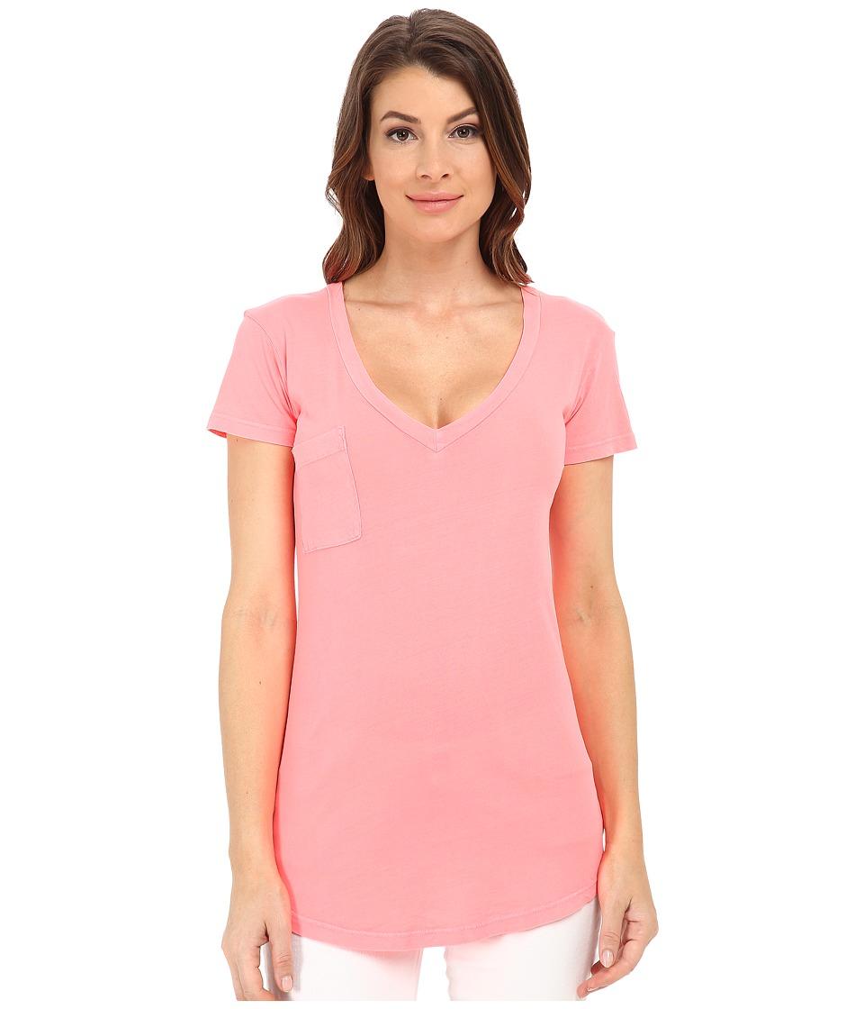 LAmade - V-Pocket Tee - Tissue Jersey (Calypso) Women's Short Sleeve Pullover