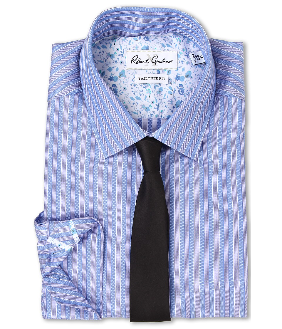 Robert Graham - Sacco Dress Shirt (Blue) Men's Clothing