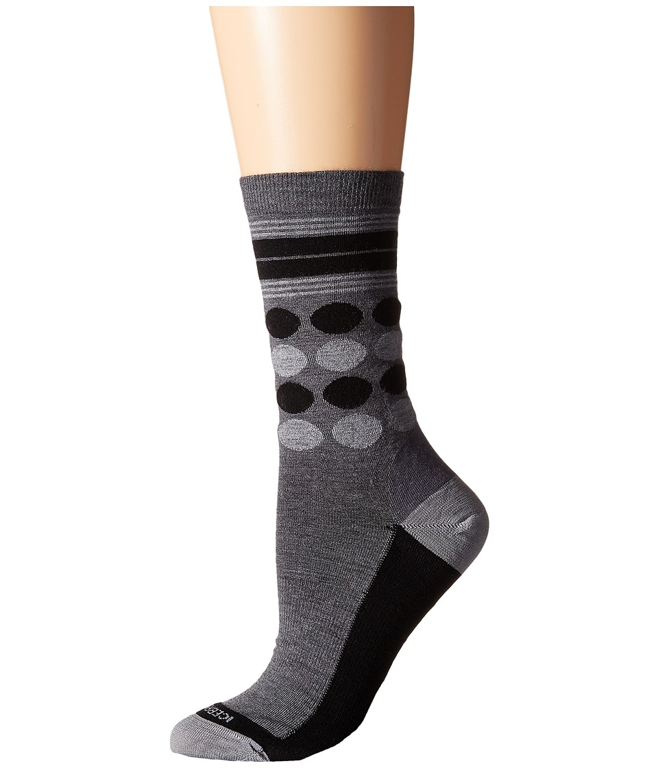 Icebreaker - Lifestyle Fine Gauge Ultra Light Crew Dots 1-Pair Pack (Jet Heather/Black/Blizzard Heather) Women's Crew Cut Socks Shoes