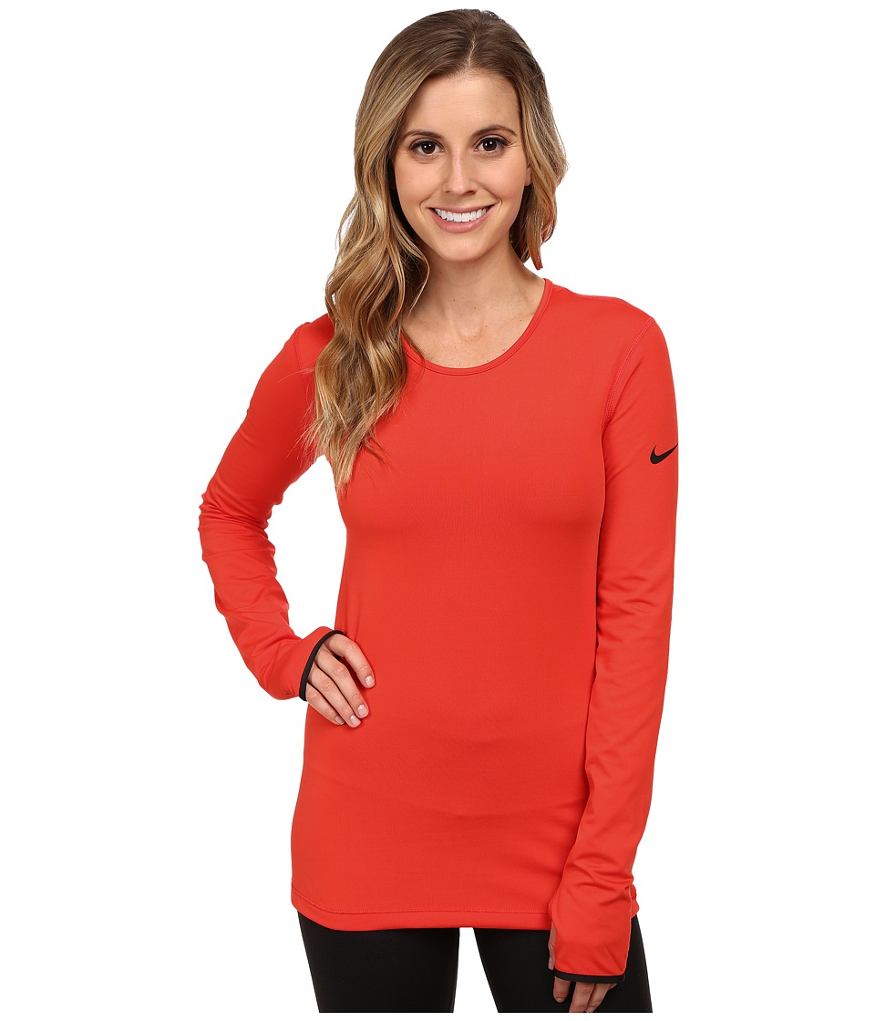 Nike - Pro Hyperwarm Crew 3.0 (Light Crimson/Black/Black) Women's Long Sleeve Pullover
