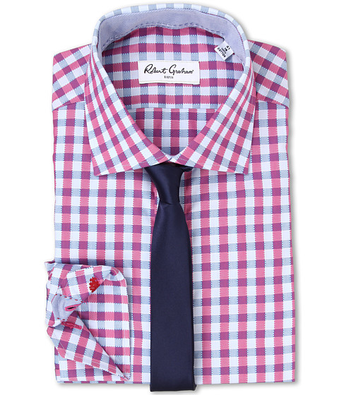 Robert Graham - Silvester Dress Shirt (Berry) Men's Clothing