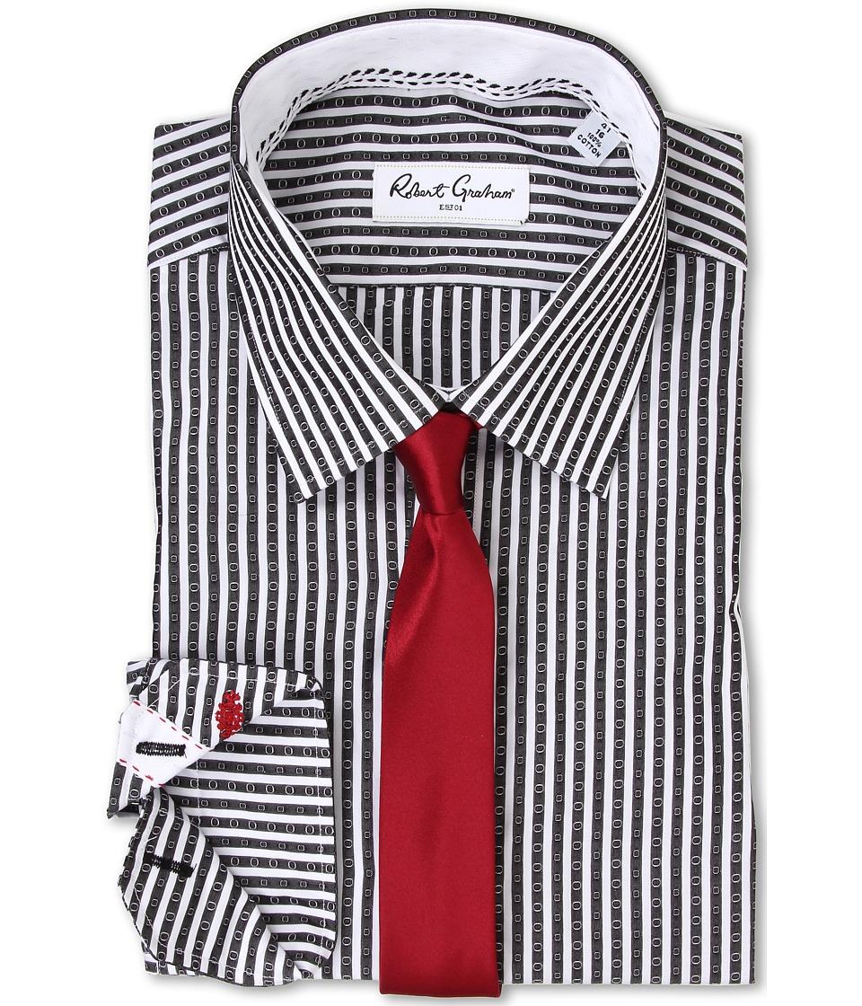 Robert Graham - Sebastian Dress Shirt (Black) Men's Long Sleeve Button Up