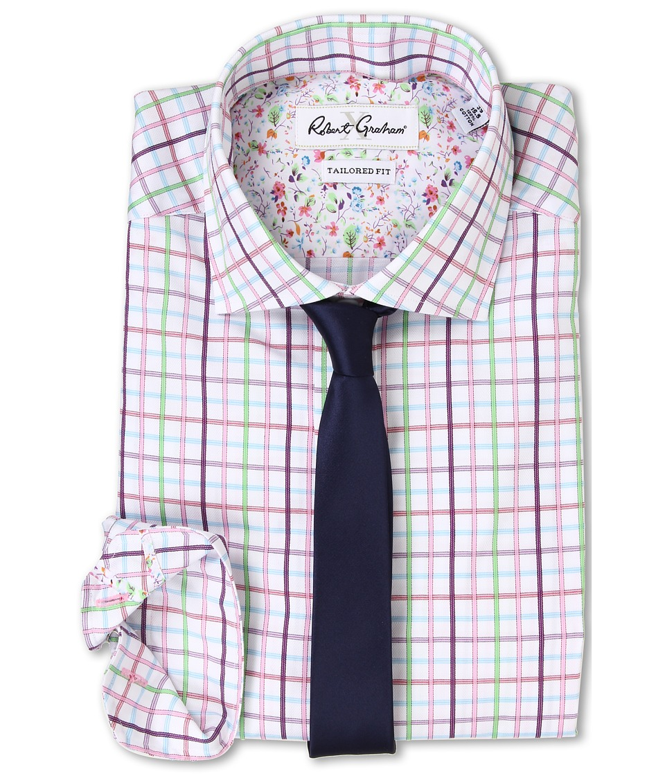 Robert Graham - Savelli Dress Shirt (Green) Men's Clothing