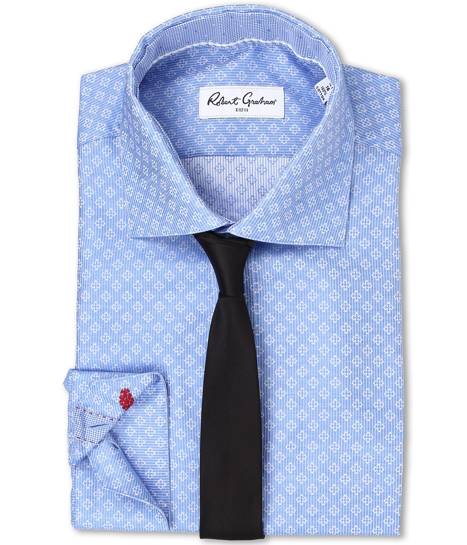 Robert Graham - Solomon Dress Shirt (Blue) Men's Clothing