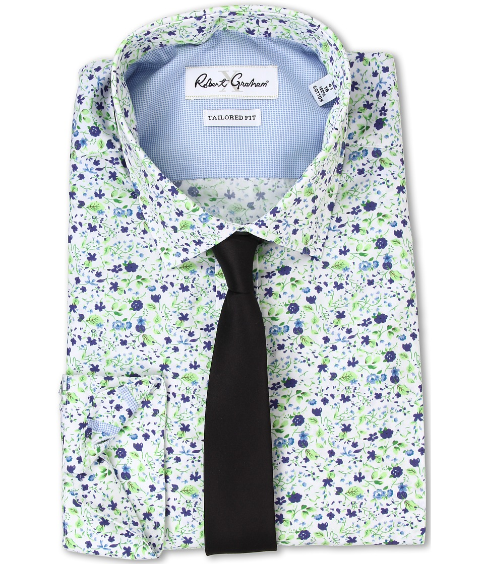 Robert Graham - Sepino Dress Shirt (Navy) Men's Clothing