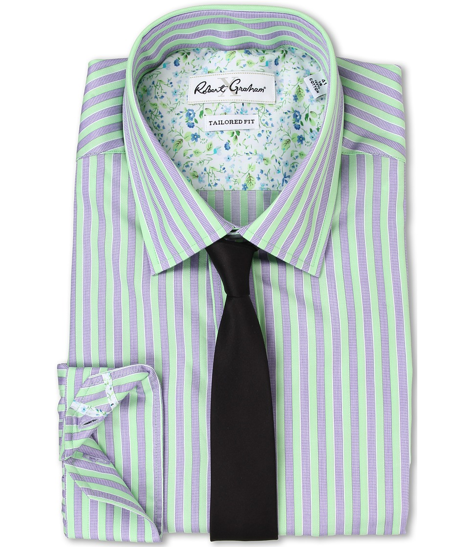 Robert Graham - Sacco Dress Shirt (Green) Men's Clothing