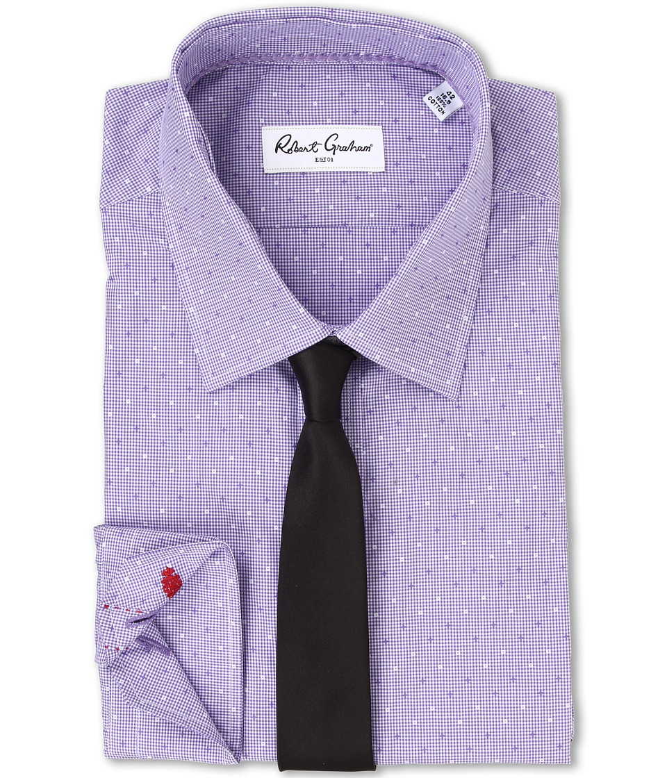 Robert Graham - Stan Dress Shirt (Purple) Men's Long Sleeve Button Up