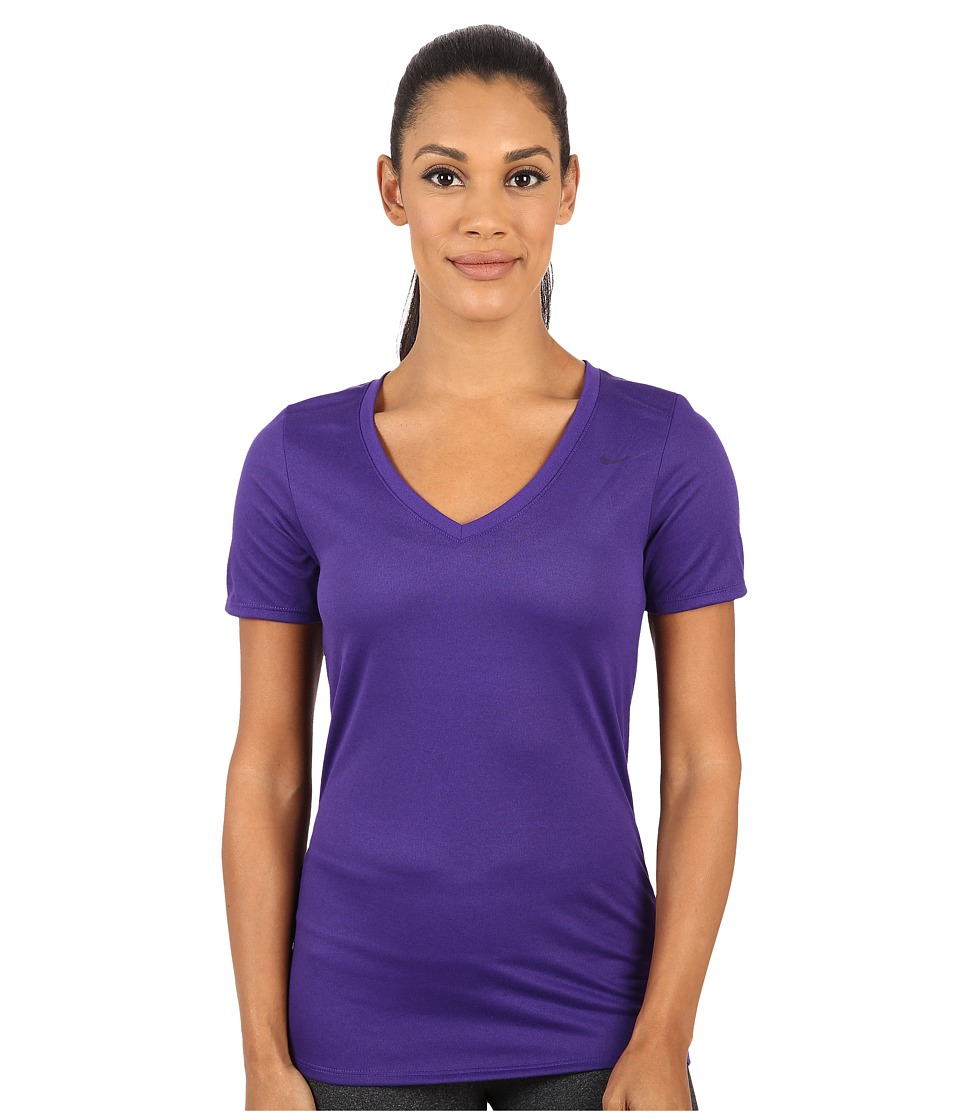 Nike - Legend 2.0 V-Neck Training Tee (Court Purple/Court Purple) Women's T Shirt