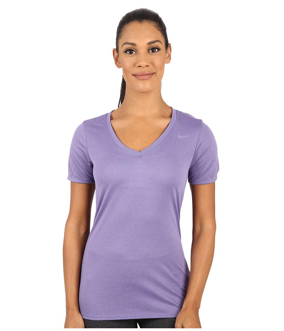 Nike - Legend 2.0 V-Neck Training Tee (Washed Purple/Washed Purple) Women