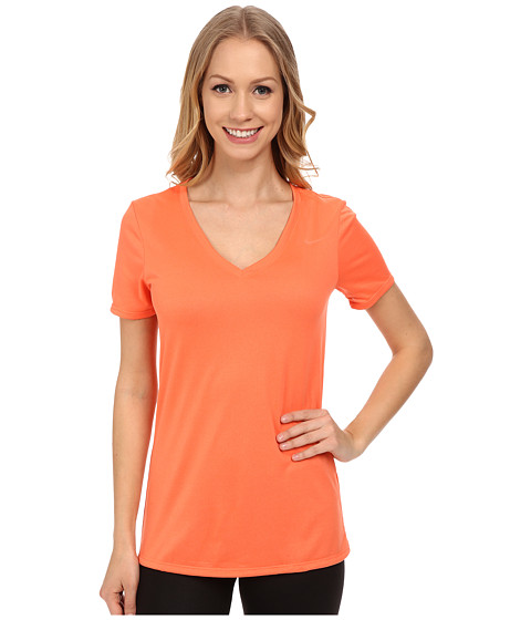 Nike - V-Neck Legend Short-Sleeve Tee 2.0 (Light Wild Mango/Light Wild Mango) Women