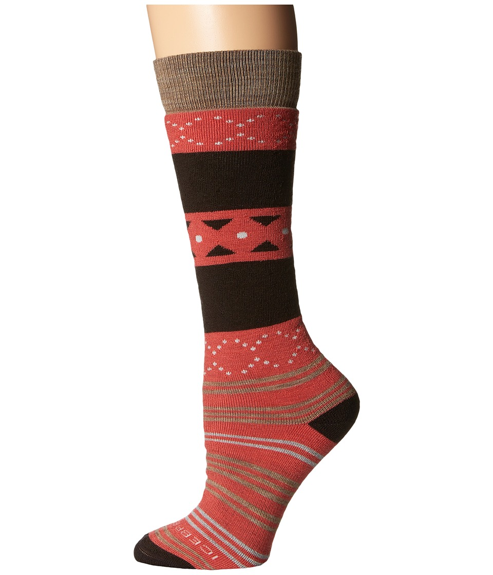 Icebreaker - Lifestyle Medium OTC Fiesta 1-Pair Pack (Azalea/Chocolate/Rye Heather) Women's Crew Cut Socks Shoes