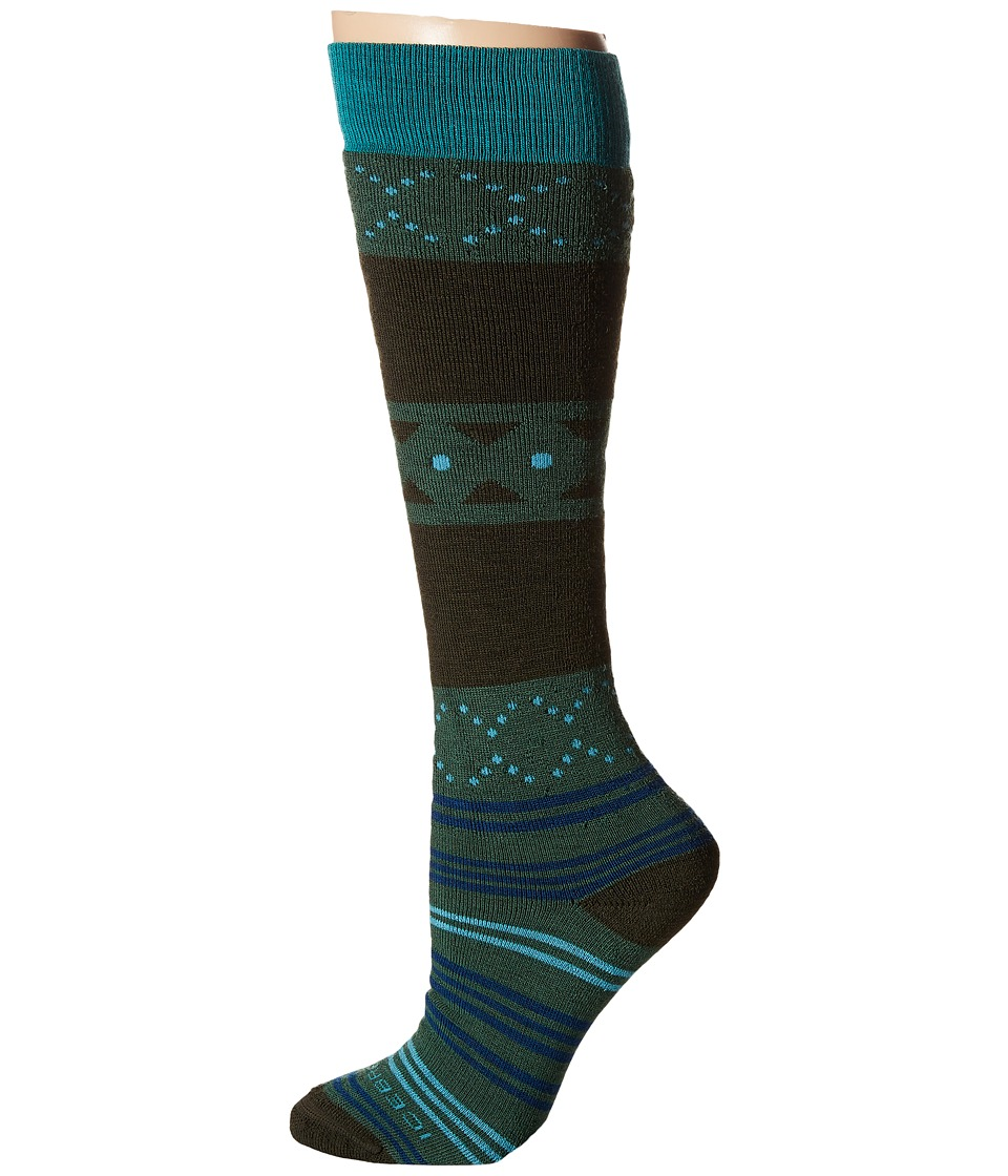 Icebreaker - Lifestyle Medium OTC Fiesta 1-Pair Pack (Scout/Ivy Heather/Mermaid) Women's Crew Cut Socks Shoes