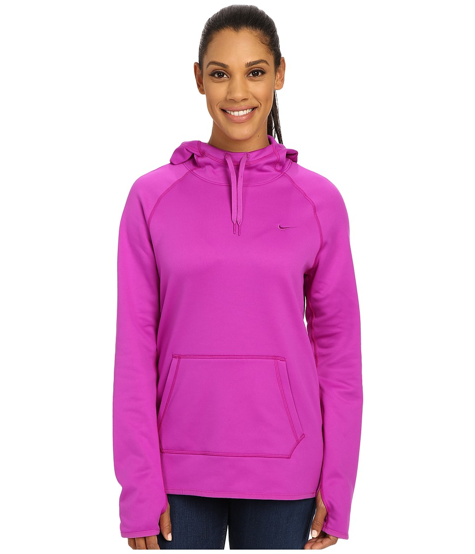 Nike - All Time Pullover Hoodie (Vivid Purple/Vivid Purple/Vivid Purple) Women's Long Sleeve Pullover