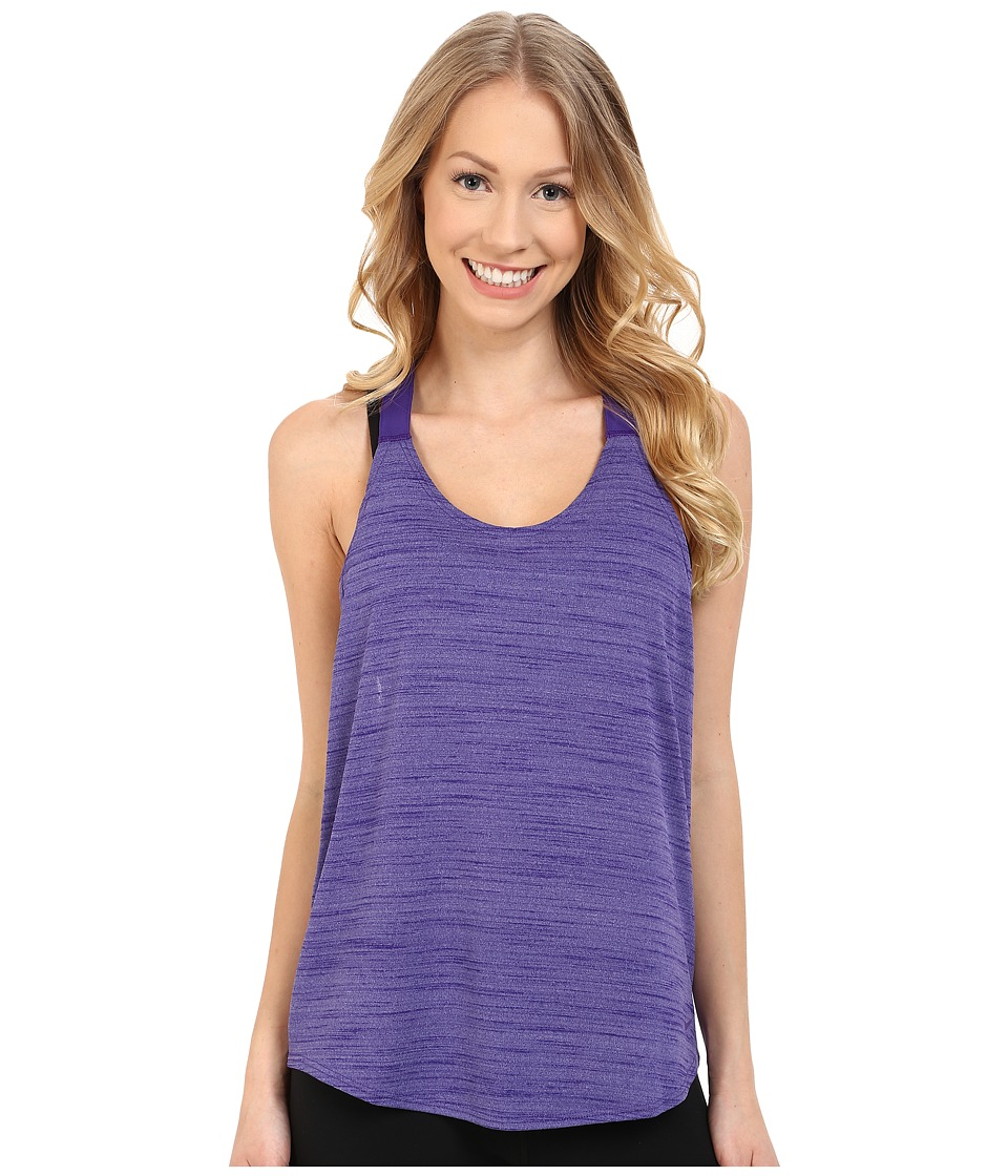 Nike - Dri-FIT Elastika Heathered Tank Top (Washed Purple/Court Purple) Women's Sleeveless