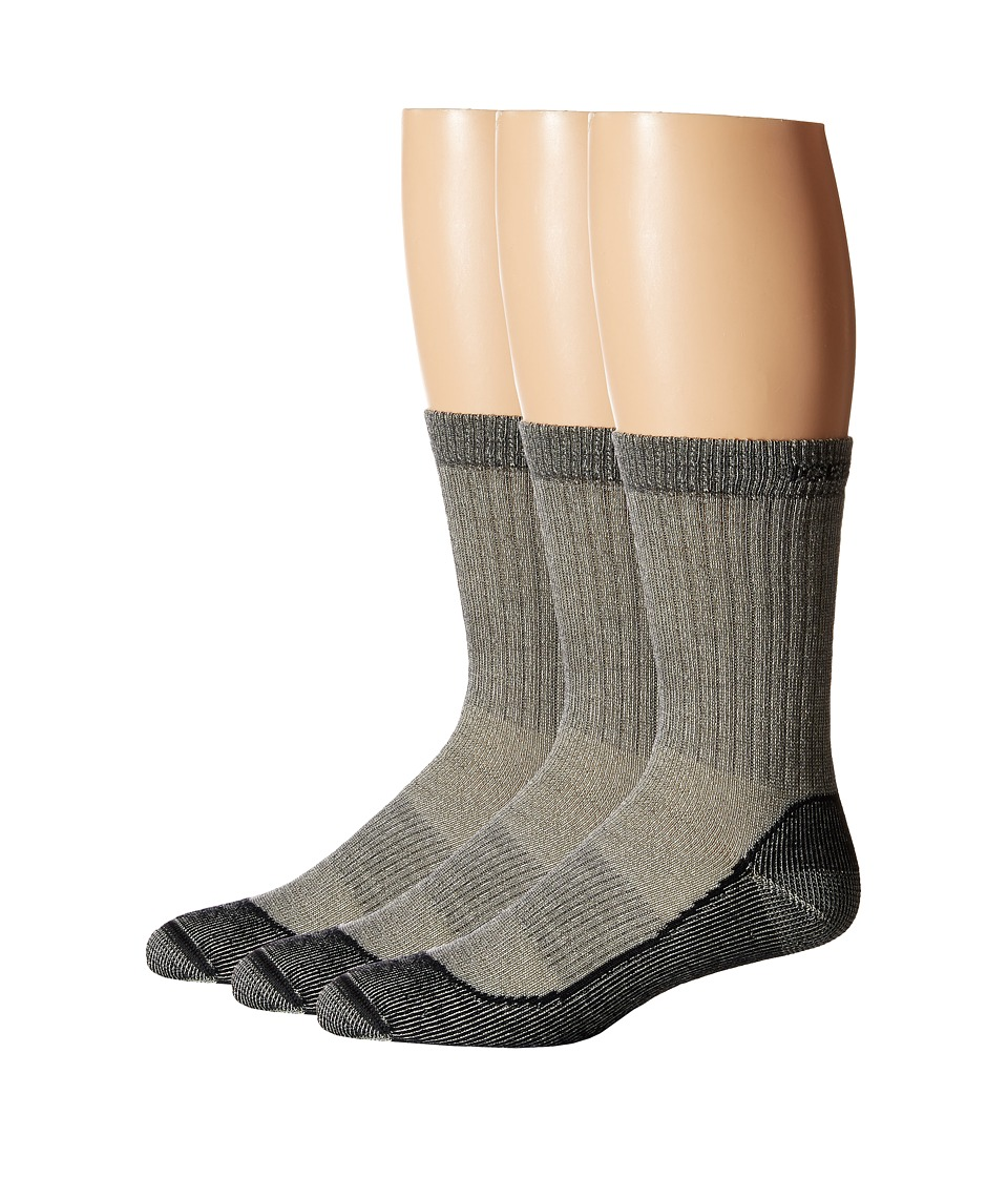 Icebreaker - Hike Basic Med Crew 3-Pair Pack (Oil/Silver) Men's Crew Cut Socks Shoes