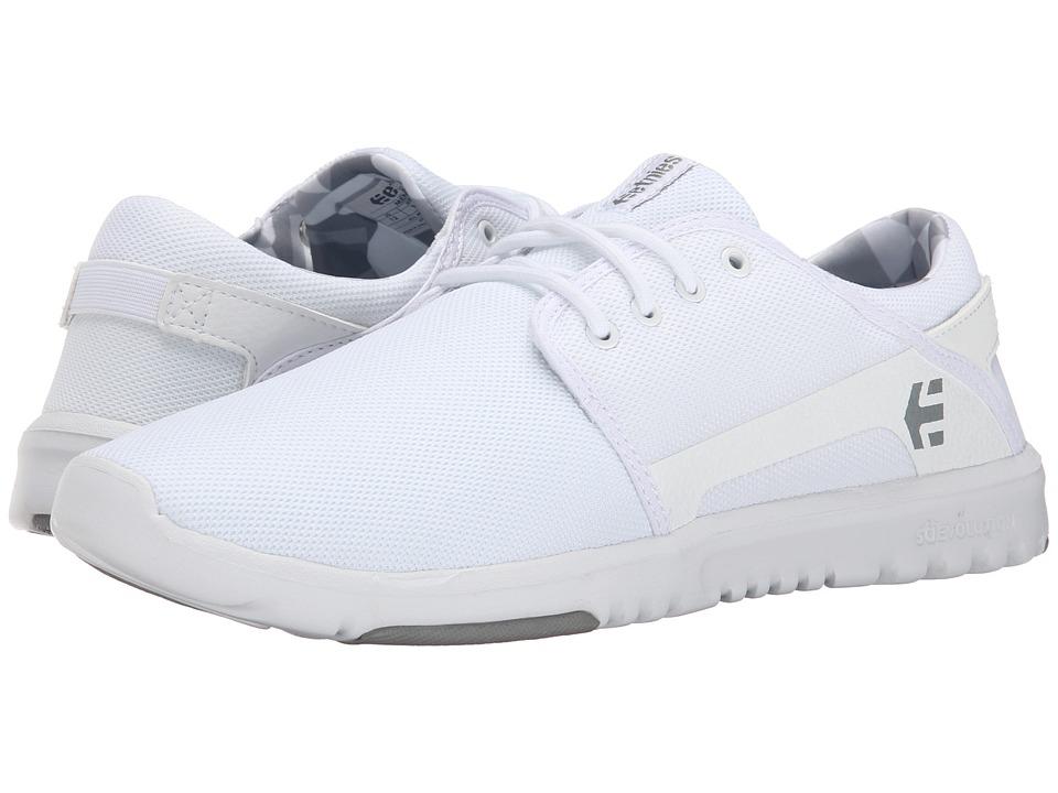 etnies - Scout (White/Print) Men's Skate Shoes