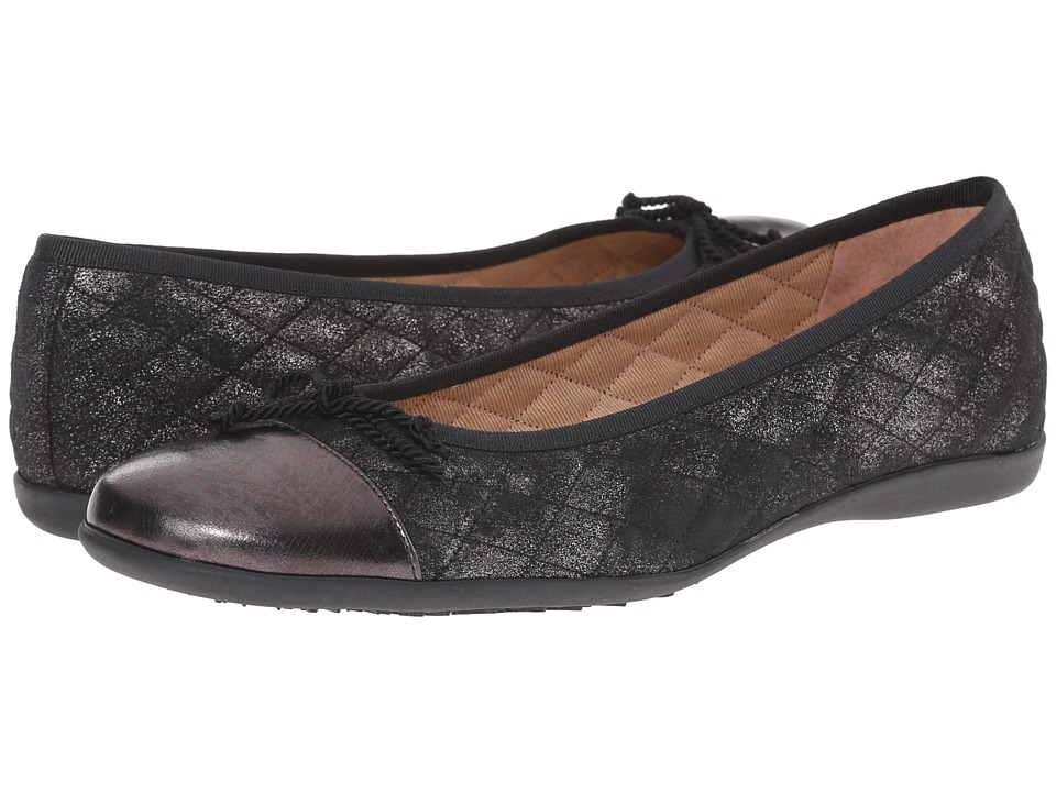 French Sole PassportR (Pewter Metallic Nappa/Suede) Women