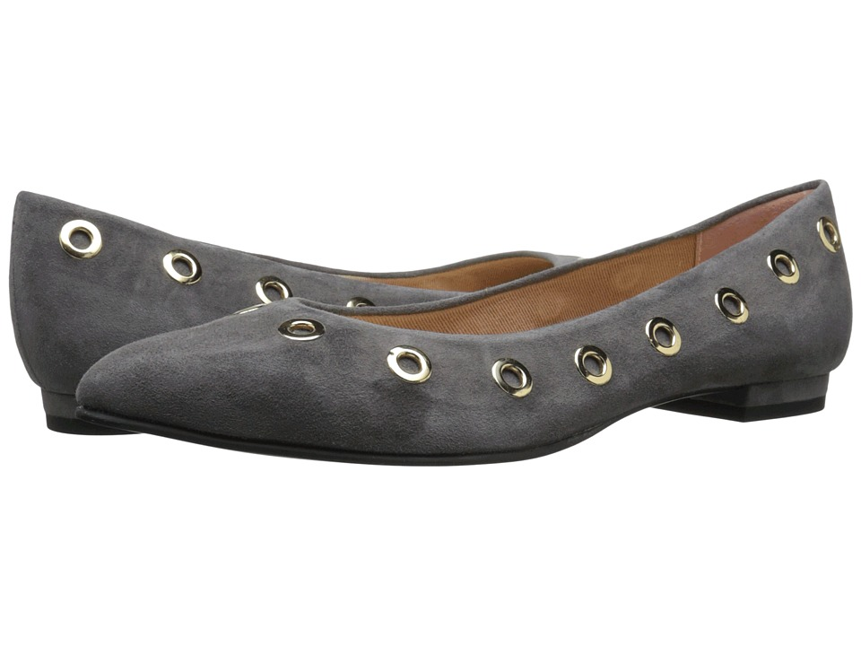 French Sole - Obtuse (Grey Suede) Women's Flat Shoes