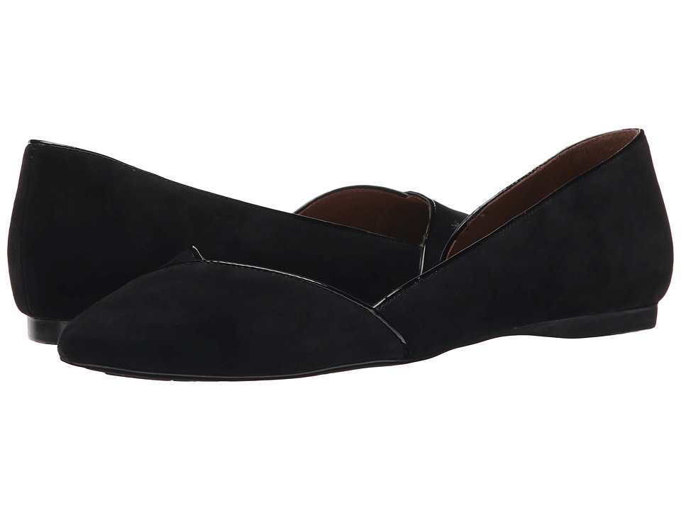 French Sole - Pyro (Black Suede) Women's Flat Shoes