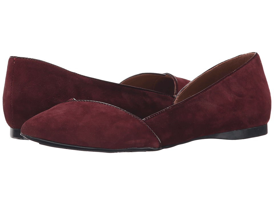 French Sole - Pyro (Burgundy Suede) Women's Flat Shoes