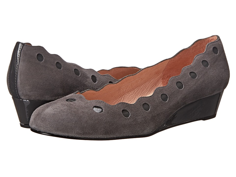 French Sole Occasion (Grey Suede/Patent) Women