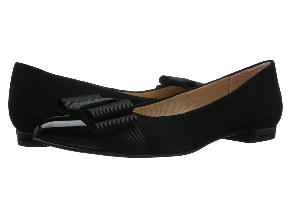 French Sole - Onstage (Black Patent/Black Suede) Women