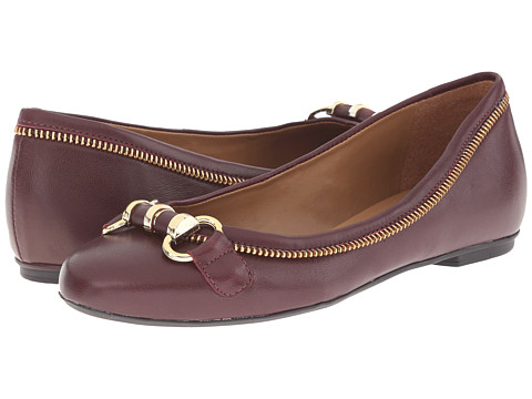 French Sole - Padre (Burgundy Leather) Women's Flat Shoes