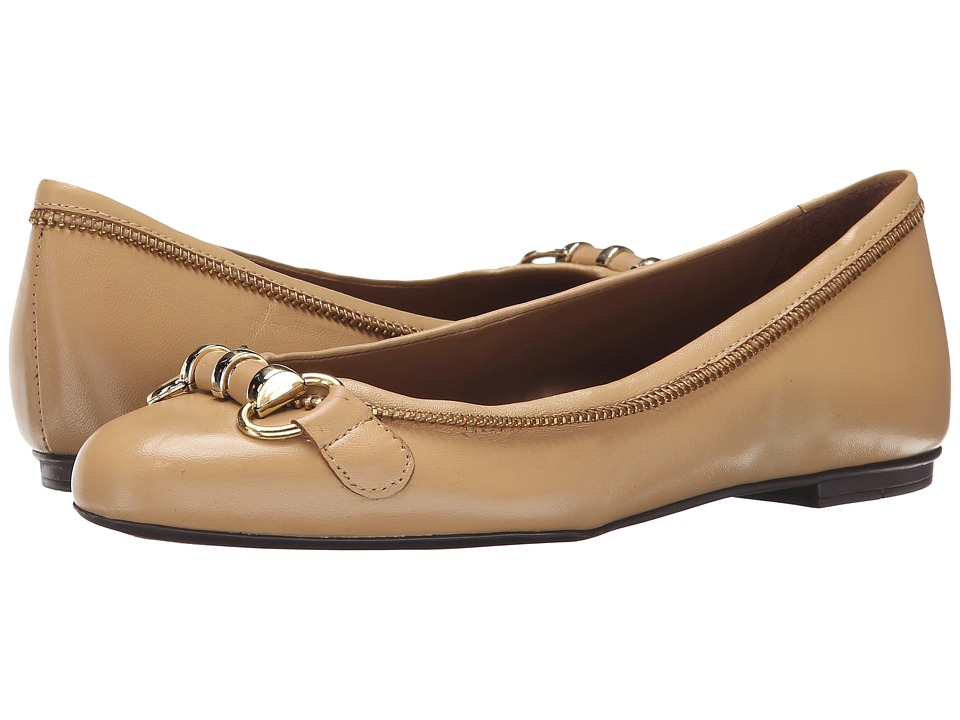 French Sole - Padre (Beige Leather) Women