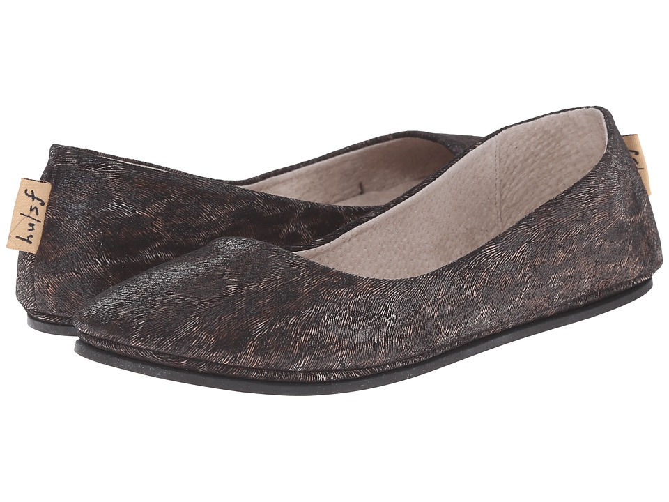 French Sole - Sloop (Black Leopard X) Women's Flat Shoes