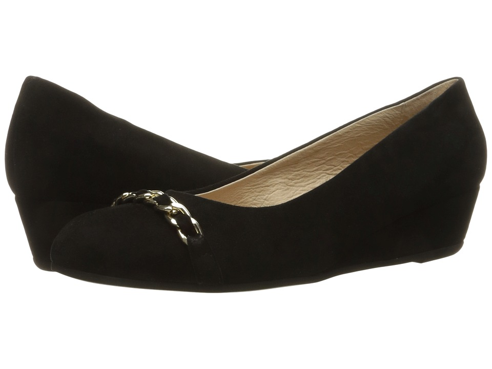 French Sole - Obsessive (Black Suede) Women's Flat Shoes