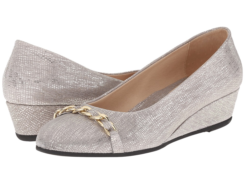 French Sole - Obsessive (Taupe Metallic) Women's Flat Shoes