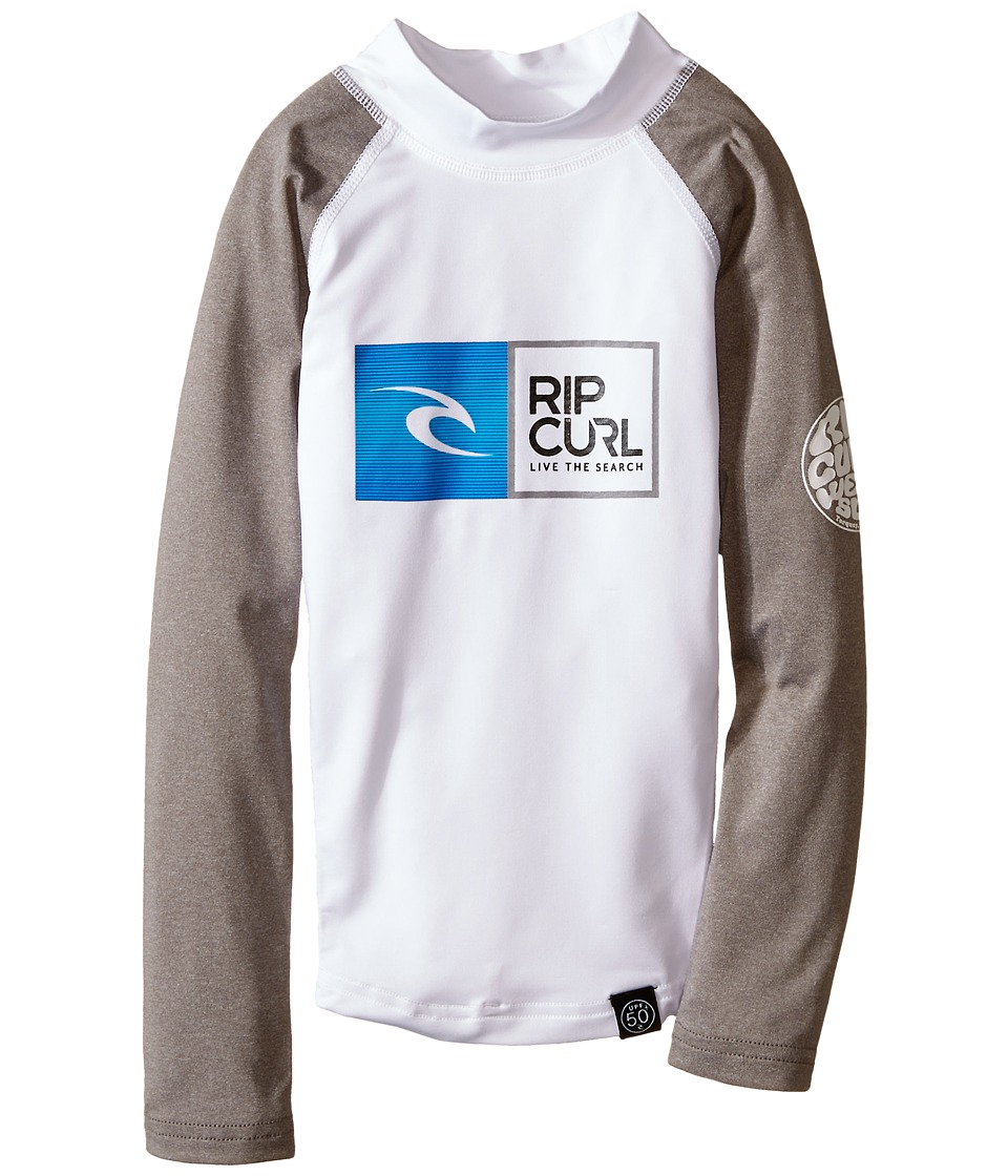 Rip Curl Kids - Ripawatu Long Sleeve (Little Kids/Big Kids) (White) Boy's Swimwear
