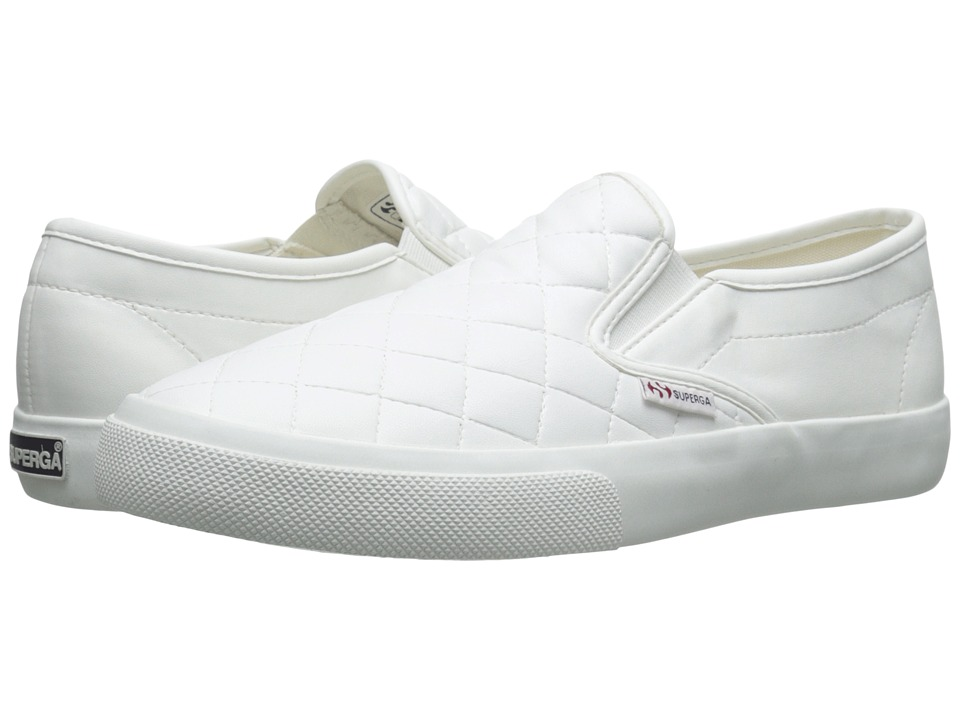 Superga - 2311 Quilted (White) Women's Lace up casual Shoes